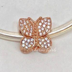 Pandora Rose Gold Sparkling Butterfly